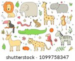 hand drawn set of different... | Shutterstock .eps vector #1099758347