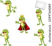 cartoon frog collection set | Shutterstock .eps vector #1099764089