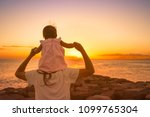mother and daughter watching... | Shutterstock . vector #1099765304