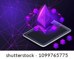 isometry icon blockchain... | Shutterstock .eps vector #1099765775