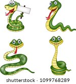 snake collection set | Shutterstock .eps vector #1099768289
