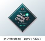 happy fathers day calligraphy... | Shutterstock .eps vector #1099773317