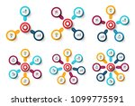 vector target with arrows.... | Shutterstock .eps vector #1099775591