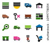 solid vector icon set   railway ... | Shutterstock .eps vector #1099778054