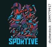 sportive team illustration | Shutterstock .eps vector #1099779917