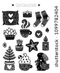 scandinavian doodles elements.... | Shutterstock .eps vector #1099782404