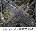 top view of highway road... | Shutterstock . vector #1099783667