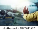 travel in rainy day concept.... | Shutterstock . vector #1099785587