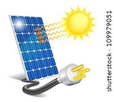 photovoltaic panel exposed to... | Shutterstock . vector #109979051