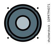 sub woofer loudspeaker | Shutterstock .eps vector #1099794071
