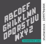 isometric 3d alphabet  white  | Shutterstock .eps vector #1099796444