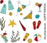 vector illustration set  ...   Shutterstock .eps vector #1099798934