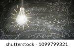 idea concept with bright...   Shutterstock . vector #1099799321
