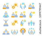 business management  meeting ... | Shutterstock .eps vector #1099799447
