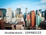 new york city manhattan skyline ... | Shutterstock . vector #109980125
