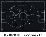 soccer or football game tactics ... | Shutterstock .eps vector #1099811357