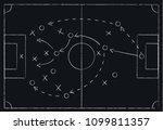 soccer or football game tactics ... | Shutterstock .eps vector #1099811357