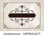 decorative frame in vintage... | Shutterstock .eps vector #1099812677