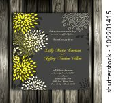 wedding card or invitation with ... | Shutterstock .eps vector #109981415
