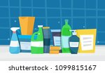 washing detergents. flat... | Shutterstock .eps vector #1099815167