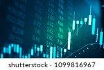 candlestick chart in financial... | Shutterstock . vector #1099816967