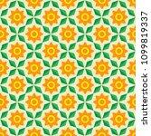 seamless background of flowers | Shutterstock .eps vector #1099819337