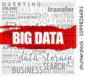 big data word cloud collage ... | Shutterstock .eps vector #1099826681