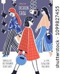 creative flyer or poster... | Shutterstock .eps vector #1099827455
