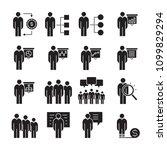 business management  meeting ... | Shutterstock .eps vector #1099829294
