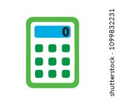 vector calculator symbol  ... | Shutterstock .eps vector #1099832231