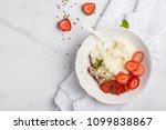rice milk porridge with... | Shutterstock . vector #1099838867