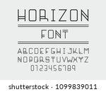 horizon font. vector alphabet... | Shutterstock .eps vector #1099839011