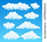 cartoon cloud set isolated on... | Shutterstock .eps vector #1099842014