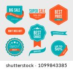 sale banner and label and... | Shutterstock .eps vector #1099843385