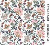 vintage pattern in indian batik ... | Shutterstock .eps vector #1099844111