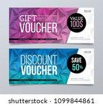 gift and discount voucher... | Shutterstock .eps vector #1099844861