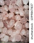 tumbled rose quartz gem stone... | Shutterstock . vector #1099847837