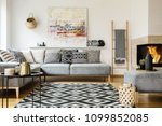 patterned carpet in decorative... | Shutterstock . vector #1099852085