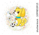 vector illustration with cute... | Shutterstock .eps vector #1099853915