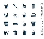 bucket icon. collection of 16... | Shutterstock .eps vector #1099854284