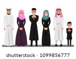 arab family characters in... | Shutterstock .eps vector #1099856777