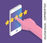 customer review  usability... | Shutterstock .eps vector #1099859765