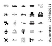 passenger icon. collection of... | Shutterstock .eps vector #1099860131