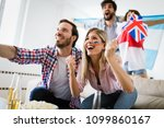group of multi ethnic people... | Shutterstock . vector #1099860167