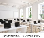3d rendering. empty school... | Shutterstock . vector #1099861499