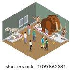 isometric museum exhibition... | Shutterstock .eps vector #1099862381