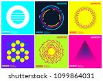 simplicity geometric design set ... | Shutterstock .eps vector #1099864031