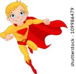 illustration of super hero boy... | Shutterstock .eps vector #109986479