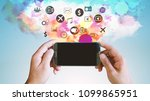 application icons interface on... | Shutterstock . vector #1099865951