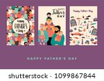 happy fathers day. vector... | Shutterstock .eps vector #1099867844